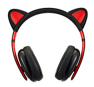 Censi Moecen Cat ear Headphones Best Lovely Gift Black Wired Version(Headband)ForMedia Player/Tablet / Mobile Phone / Computer With Noise-Cancelling