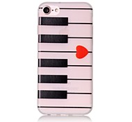 Glow in the Dark Piano Pattern Embossed TPU Material Phone Case for  iPhone 7 7 Plus 6s 6 Plus SE 5s 5
