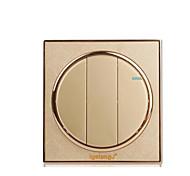 золотой круглой стены бытовой панели переключатель гнездо