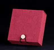 Schmuckbehälter Papier 1 Stück Rot / Braun
