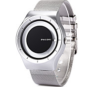 Men's Simple Fashion Analog Display Stainless Steel Quartz Wrist Watch