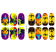 Fashion Charmming Halloween Noctilucent Lantern pumpkins Nail Decal Art Sticker Gel Polish Manicure