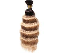 Âmbar Cabelo Indiano Onda Profunda 12 meses 1 Peça tece cabelo