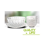 Practical Liu Jiantao Crystal Diamond Dishes Bowl Salad Bowl Advertising Campaign Gifts