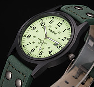 XINEW Men Calendar Quartz Watch Mens PU Leather Band Fashion Casual Clock Wristwatch