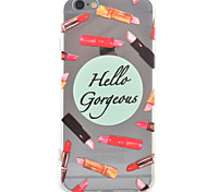 Lipstick HD Pattern Embossed Acrylic Material TPU Phone Case For iPhone 7 7 Plus 6s 6 Plus