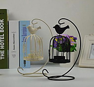 European Butterfly Bird Cage Candlestick Vintage Candlestick Creative Home Decoration