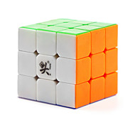 Toys Dayan Stress Relievers / Magic Cube 3*3*3 / Magic Toy Smooth Speed Cube Magic Cube puzzle White Plastic