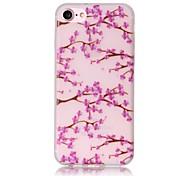 Glow in the Dark Plum Flower Pattern Embossed TPU Material Phone Case for  iPhone 7 7 Plus 6s 6 Plus SE 5s 5