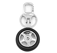ZIQIAO Creative Wheel Hub Design Metal Keychain Car Key Chain Key Ring Cool Gift for Man