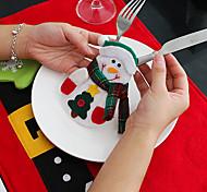 4шт снеговика нож и вилка сумки рождественские украшения стола