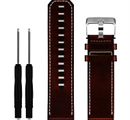 Superior Luxury Leather Strap Replacement Watch Band With Tools For Garmin Fenix 3