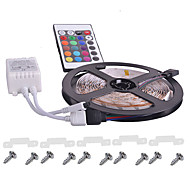 KWB waterproof Flexible RGB LED Strip Light With Remote Controller 12V LED SMD3528 16 Colors Changeable Home Dacoration