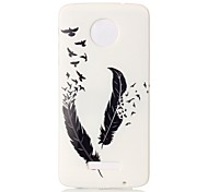 Back Cover Pattern Feathers TPU Soft Case Cover For Motorola Moto Z  Moto Z Force