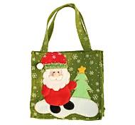 creativas de santa claus muñeco de nieve del árbol de navidad bolsas de regalo de los alces de la moda decoración hecha a mano en casa
