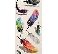 1 Tatuagem Adesiva Outros feather Flash do tatuagem Tatuagens temporárias