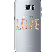 Для Samsung Galaxy S7 Edge С узором Кейс для Задняя крышка Кейс для С сердцем Мягкий TPU SamsungS7 edge / S7 / S6 edge plus / S6 edge /