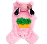 Rabbit Carrot  Fleece Thick Hoodie Jumpsuit for Pet Dog Dog Clothes