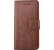 Dandelion Embossed PU Leather Material Leather  for Samsung Galaxy S5 S6 S6 edge