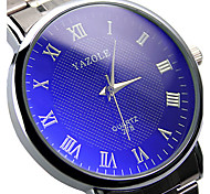 278 YAZOLE Fashion Watch Couple's Stainless Steel Blue Ray Glass Analog Quartz Wrist Watches