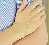 Gold Silver Color Thin Chain Link Bracelets