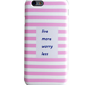 Pink Stripes Pattern Phone Shell TPU Material IMD Technology For iPhone 6s 6 Plus SE 5S 5