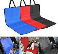 Кошка Собака Чехол для сидения автомобиля Животные Одеяла Однотонный В клетку Водонепроницаемость СкладнойЧерный Бежевый Серый Красный