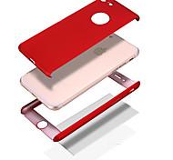 Назначение iPhone 8 iPhone 8 Plus Чехлы панели Защита от удара Other Чехол Кейс для Сплошной цвет Твердый PC для Apple iPhone 8 Plus