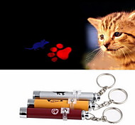 Cat Toy Dog Toy Pet Toys Laser Toy Footprint Mouse Red Blue Pink Yellow Silver Aluminum