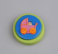Transporte de bebê molde de silicone mofo bolo de fondant decoração cor aleatória