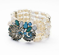 Bracelet Bangles Alloy Flower Fashion Gift / Casual Jewelry Gift Light Blue1pc