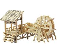 Пазлы 3D пазлы Деревянные пазлы Строительные блоки Игрушки своими руками Китайская архитектура Дерево