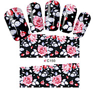 Nail Sticker Flower Water Transfer Nail Sticker on Nail Art Sticker Sheet on Finger Nail