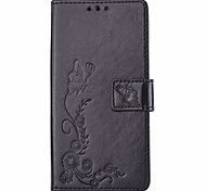 Butterflies Embossed PU Leather Material Leather  for LG K4 K8 K10 K7 G5
