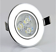 3W Yellow Color Recessed LED Ceiling Downlight Spotlight Party Lamp Bulb Light (AC85V-265V)