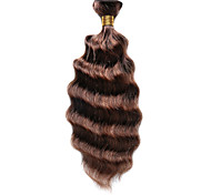 1PC TRES JOLIE Deep Wave 10-18Inch Color #P4/30 Brown Auburn Piano Human Hair Weaves