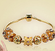 Bracelet Chain Bracelet / Charm Bracelet Alloy Circle Fashion Casual Jewelry Gift Gold1pc