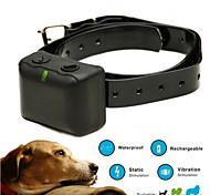 Hunde Bellhalsband / Training - Hundhalsbänder Anti Bark / Wasserdicht / Wiederaufladbar / Vibration Solide Schwarz Plastik / TPU