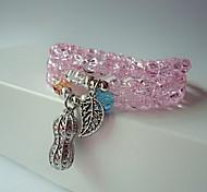Bracelet Strand Bracelet Crystal Leaf Fashion Casual Jewelry Gift Light Pink1pc
