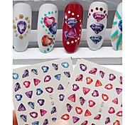 2pcs Nail Art Sticker Adesivi 3D unghie makeup Cosmetic Nail Art Design