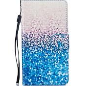 für Samsung-Galaxie j5 j5 (2016) Fall blauem Sand PU-lederne Mappe