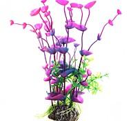 Décoration d'aquarium Fleur Plastique Violet
