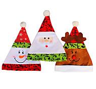 3шт / серия рождественские шляпы шапки мягкий плюш взрослые дети снеговика Санта-Клаус оленей шапка шлем рождества высокое качество gorro
