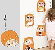 Мультипликация / Мода / люди Наклейки Простые наклейки Декоративные наклейки на стены,PVC материал Съемная Украшение домаНаклейка на