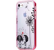 Para Funda iPhone 7 / Funda iPhone 6 / Funda iPhone 5 Transparente / Diseños Funda Cubierta Trasera Funda Corazón Suave TPU AppleiPhone 7