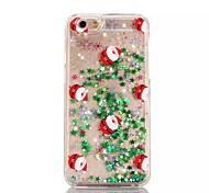 For iPhone 7 Case / iPhone 6 Case / iPhone 5 Case Flowing Liquid / Translucent / Pattern Case Back Cover Case Christmas Hard PC Apple