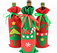 Christmas Decorations The New Bottle Set Champagne Wine Gift Bags Of Candy Bag Of Christmas Products Color Random