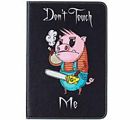 With Stand Flip Pig Pattern Case Full Body Case Hard PU Leather for iPad Mini 4 iPad Mini 3 2 1
