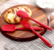 3 Piece DIY Cake Baking Tools Silicone Mixing Spatulas Scraper Set-May Fifteenth
