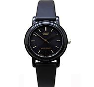 Casio Women's Quartz Watch with White Dial Black Rubber Strap LQ-139EMV-1A